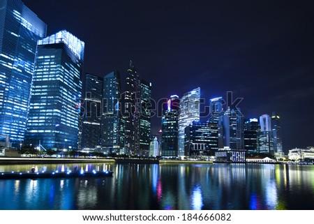 Skyline, financial centre - stock photo
