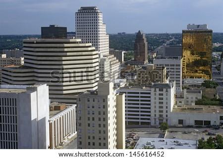 Skyline of Austin, TX - stock photo