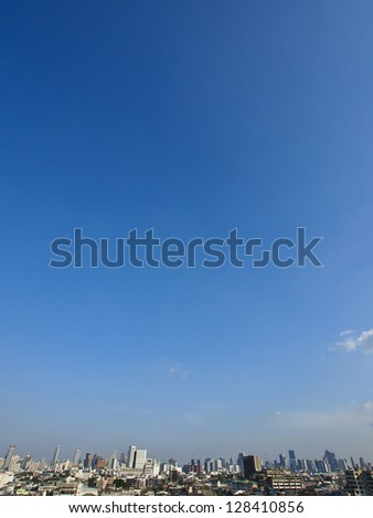 skyline of Bangkok city in sunny day - stock photo