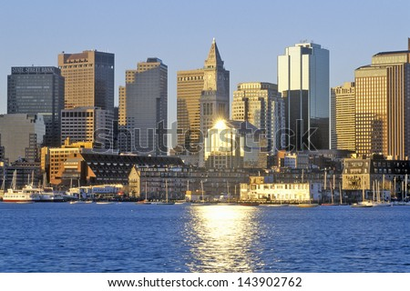 Skyline of Boston, Massachusetts - stock photo