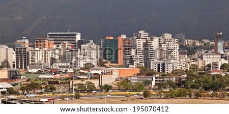 Skyline of Caracas, Venezuela.  - stock photo