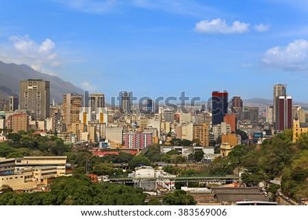 Skyline of Caracas, Venezuela - stock photo