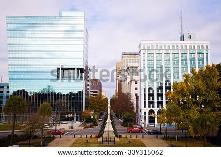 Skyline of Columbia, South Carolina, USA. - stock photo