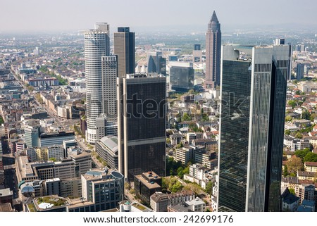 Skyline of Frankfurt, Germany - stock photo