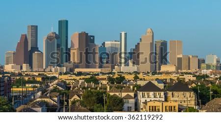 Skyline of Houston, Texas - stock photo