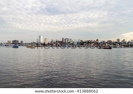 Skyline of Manaus, Brazil - stock photo