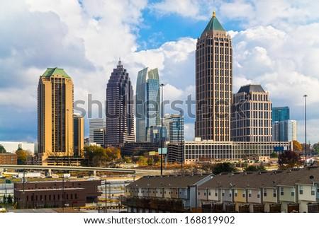 Skyline of Midtown Atlanta, Georgia, USA - stock photo