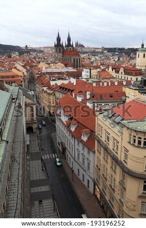 Skyline of old town in Prague, Czech republic