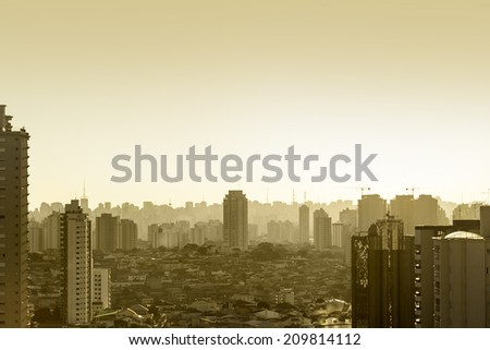 Skyline of Sao Paulo, Brazil - stock photo