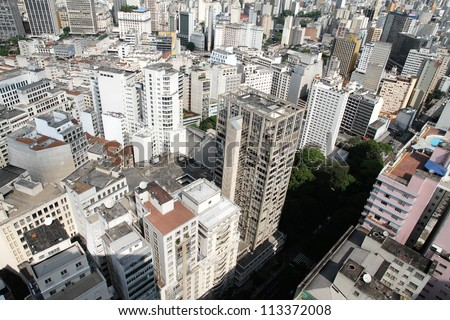 Skyline of Sao Paulo, Brazil, South America.