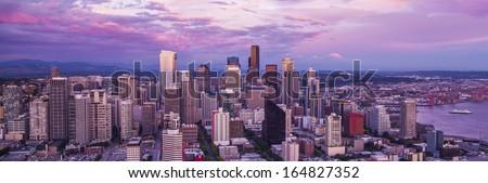 Skyline Seattle - stock photo