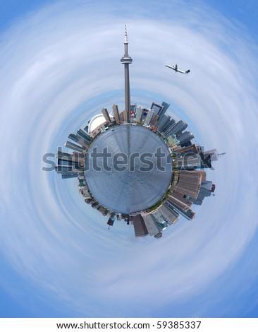Skylines of Toronto - stock photo
