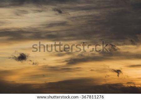 Skyscape yellow - stock photo