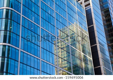Skyscraper and reflection for background
