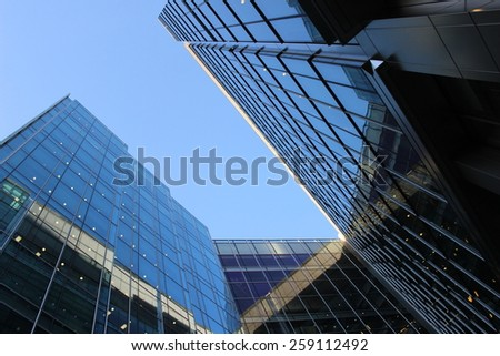 Skyscraper Business Office, Corporate building in London City, England, UK - stock photo