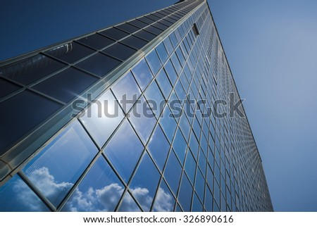 skyscraper facade - stock photo