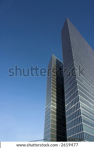 Skyscraper. Free space for your text. - stock photo