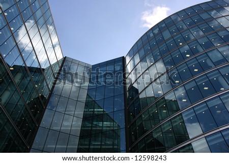 Skyscraper in London - ultramodern steel and glass building - stock photo