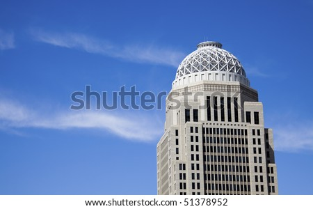 Skyscraper in Louisville, Kentucky. - stock photo