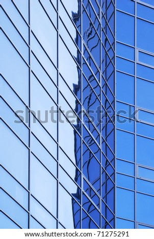 skyscraper windows background - stock photo