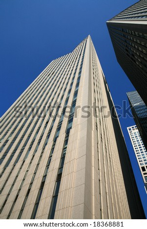 skyscraper with blue sky in Beijing CBD(Central Business District),China
