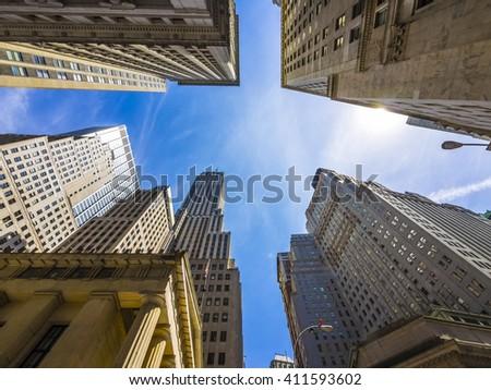 Skyscrapers/Buildings in New York City - stock photo
