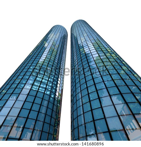 Skyscrapers - 3d rendered illustration - stock photo
