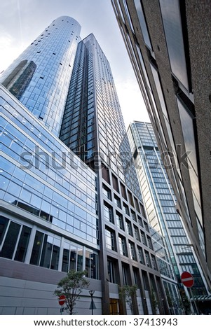 Skyscrapers in Frankfurt am Main, Germany - stock photo