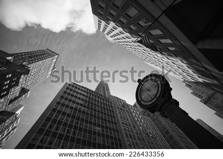 Skyscrapers in New York - stock photo