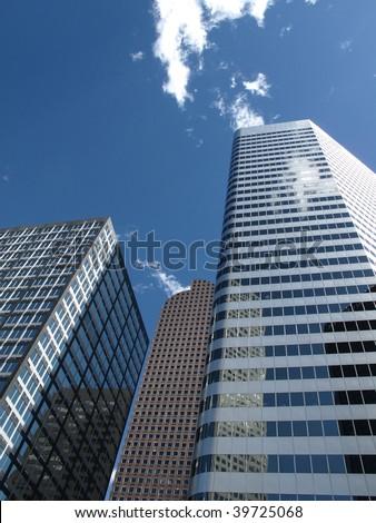 Skyscrapers - Modern Denver Office Buildings - stock photo