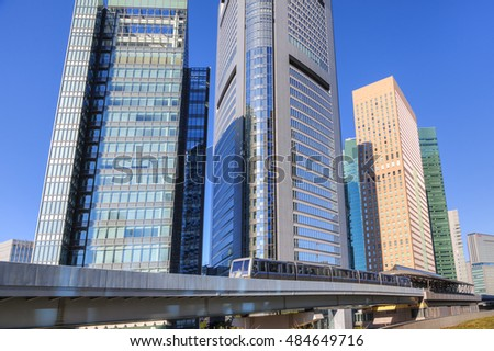 Skyscrapers of Shiodome tower, Tokyo, Japan