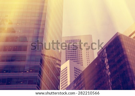 Skyscrapers walls - stock photo