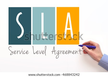 Sla Service Level Agreement Sign On Stock Photo   Shutterstock