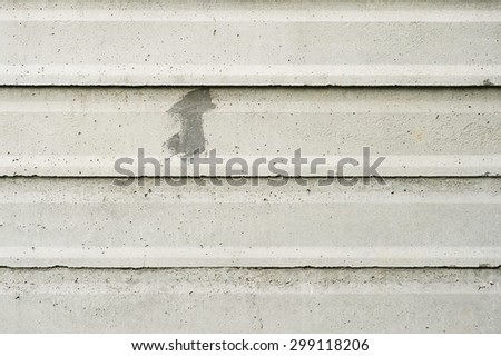 Slabs Gray and dirty concrete wall - stock photo