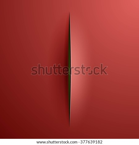 Slashes background in Lucio Fontana style - stock photo