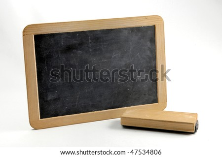 Slate. Horizontal blackboard