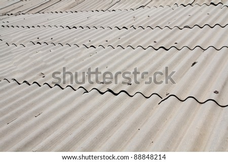 slate roof in the background - stock photo
