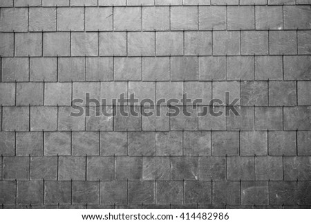 slate roof tiles background - stock photo