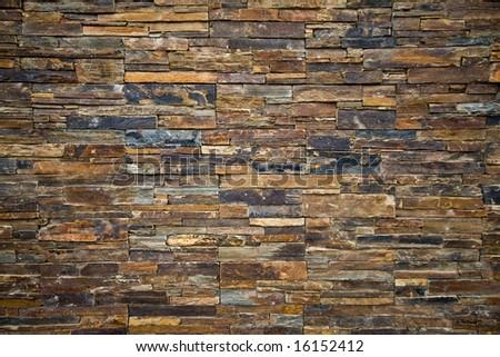 Slate Stone Wall background Texture - stock photo