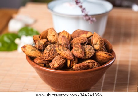 slated almond and baked - stock photo