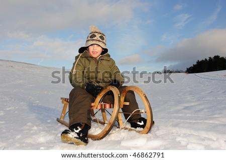 sledge - stock photo