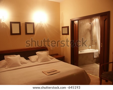 Sleep and shower - stock photo
