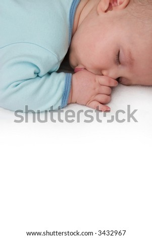 Sleeping Baby Sucking Thumb