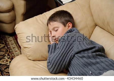 Sleeping boy - stock photo