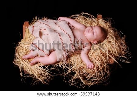 sleeping Christ Child - stock photo