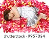 Sleeping in Petals - stock photo
