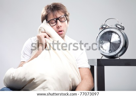 Sleeping man - stock photo
