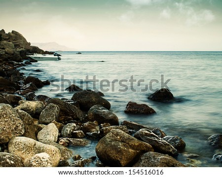 Sleeping sea, abstract natural landscape for your design - stock photo