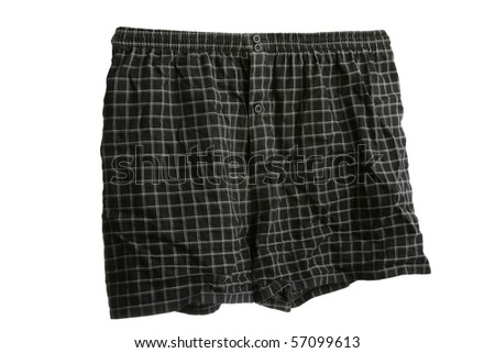 Sleeping shorts or boxers isolated on white background - stock photo