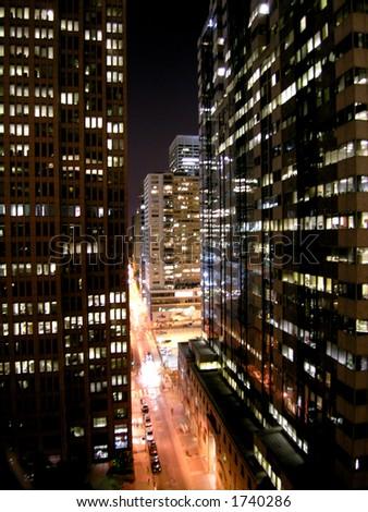 Sleepytime City - stock photo
